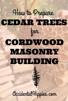 Here's our simple method for felling and easily removing the bark from cedar trees to use for cordwood construction (or if you like, for crafting or furniture making!) #greenbuilding #cordwood