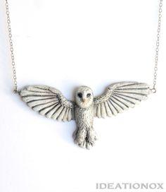 Barn Owl Necklace - Ideationox