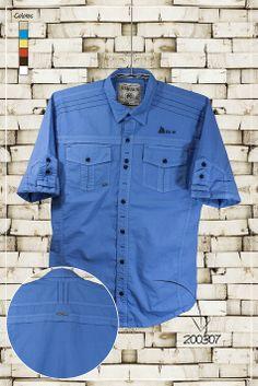Ropa-de-moda-camisa-manga-corta-color-azul-ref-200307