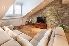 living room designed by Kristina Proksova Living Room Designs, Couch, Interiors, Furniture, Home Decor, Settee, Decoration Home, Sofa, Room Decor