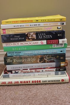 12 Books I'm Planning to Read in April -- here's my book stack; what's on your book stack?