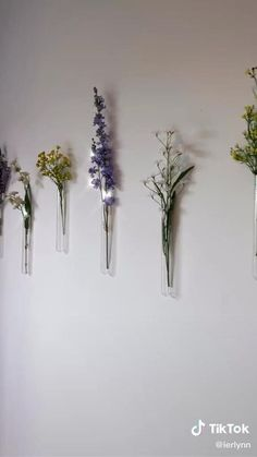 Flower Planters, Flower Vases, Diy Flower, Flowers, Cheap Wall Decor, Diy Wall Decor, Wall Painting Decor, Indie Room, Flower Wall Decor