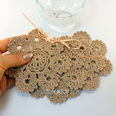 Handmade Crochet Flower Coasters For Sale. Set of 4. Use these coasters to protect your furniture, made of 100% Cotton Yarn, they are super absorbent. This lovely flower crochet coasters will look beautiful on any table. It can be a nice gift for someone special, for your friends,
