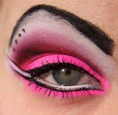 neon makeup   Neon eye makeup   Neon eyeshadow   Neon make up