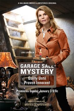 "Its a Wonderful Movie - Your Guide to Family and Christmas Movies on TV: Hallmark Mystery Movie starring Lori Loughlin: ""Garage Sale Mystery: Guilty Until Proven Innocent"""