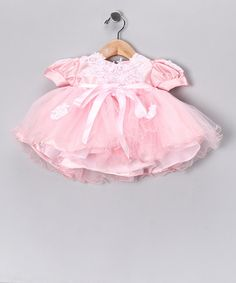Take a look at this Lida Pink Puff-Sleeve Tulle Dress - Infant by Made in the USA: Kids' Apparel on #zulily today!