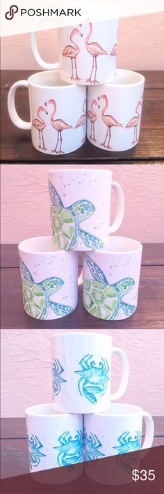 Sea Life Mug Sea life collection mugs, order while supplies last 🌴🌴. See my shop for more designs. Listed Lilly for exposure. These are by local artist Go Coastal studios – Palm Beach. 🌴🌴🌴🌴 Go Coastal Studios Other