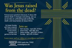 Cross of Grace's Easter Service Flyer Design