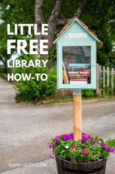 How to Build a Free Little Library Little Free Library Plans, Little Free Libraries, Little Library, Mini Library, Dream Library, Library Books, Little Free Pantry, Street Library, Craft Projects