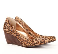 Leopard stacked wedge...love these! Sole Society