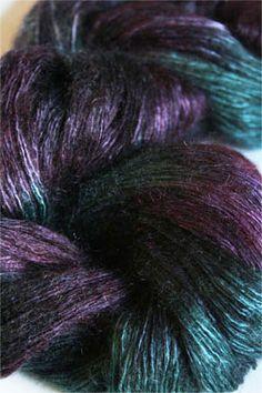 Artyarns Ensemble Light silk & Cashmere Yarn H17 Emerald Purples