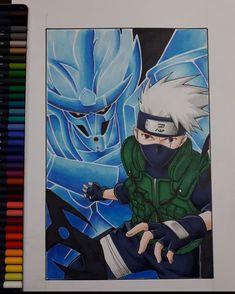 Kakashi Drawing, Naruto Sketch Drawing, Naruto Drawings, Anime Drawings Sketches, Anime Sketch, Manga Drawing, Naruto Fan Art, Wallpaper Naruto Shippuden, Naruto Shippuden Anime