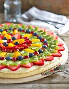 Fruit Pizza & Cream Cheese Frosting - 1/2 C Butter, 8 oz cream cheese (can use only 4 oz), 1 tsp pure vanilla, 1/4 C milk & 4 1/2 C powdered sugar. Will frost 24 cupcakes  :-) June 21, 2014 made for Kaitlin's Shower. Very Good :-)