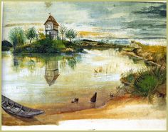 Image Detail for - House by a Pond - Albrecht Durer - WikiPaintings.org