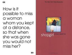 Shopgirl by Steve Martin | 46 Brilliant Short Novels You Can Read In A Day