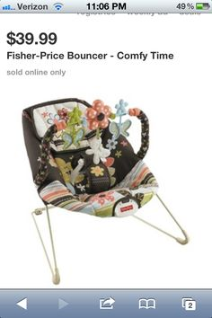 Fisher-Price Comfy Time Bouncer want want want it! someone get it for me please with sugar! Baby Bouncer, Bouncers, Fisher Price, Baby Items, Baby Car Seats, Baby Strollers, Nursery, Baby Shower, Comfy