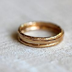 14k gold stacking rings from praxis jewelry $240.00