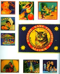 Etiquetas antiguas de naranjas valencianas para su comercialización. Ingenio y diseño para su venta. Es la historia de las naranjas en la Comunidad Valenciana.