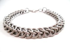 Stainless Steel Chainmail Bracelet Half by SerenityInChains, $20.00