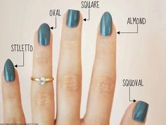 Choose which nail shape you'd like before painting.
