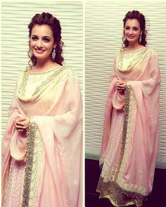beautiful pastel pink anaarkali dress.  Indian fashion trends 2014.