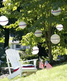 Light up your backyard with some red, white & blue!
