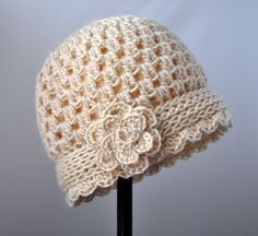 Crochet Vintage Flowered Cloche Pattern | Classy Crochet; pattern for sale