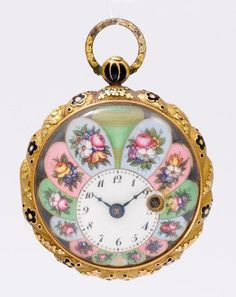 GOLD AND ENAMEL POCKET WATCH, ca. 1780.Gold.Case o - by Koller Auctions