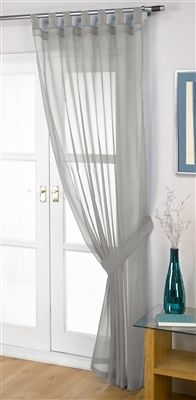 Opaque Silver Voile Curtain Panel Curtains Panel Curtains Voile Panels