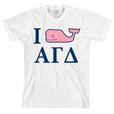 515be1fd42c35f I Whale Alpha Gamma Delta American Apparel T Shirt Love Vineyard  NEW  Delta  Gamma