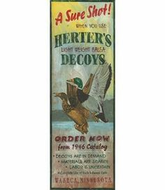 Custom Large A Sure Shot Herters Decoys Vintage Style Wooden Sign Aluminum Signs, Metal Signs, Wooden Signs, Aluminum Metal, Antique Signs, Vintage Signs, Hunting Signs, Fishing Signs, Wood Home Decor
