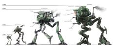 Walking Machines from the Malaysian sci-fi animation film War of the Worlds: Goliath