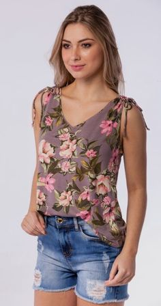 Top Pattern, Floral Tops, Hair Beauty, Tank Tops, Casual, Shirts, Patterns, Blog, Fashion