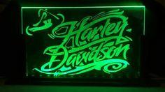 Harley Davidson Lampara Acrylica Led