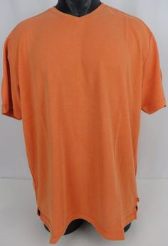 NWT Tommy Bahama Mens XL V-Neck New Pebble Shore T-Shirt Orangina Modal Soft $78 #TommyBahama #VNeck