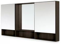 Durant Medicine Cabinet Sets - Modern Bath Furniture - Room & Board Modern Bathroom Mirrors, Bathroom Wall Decor, Bath Decor, Bathroom Ideas, Bathrooms, Wine Glass Shelf, Glass Shelves, Floating Shelves, Modern Bedroom Furniture