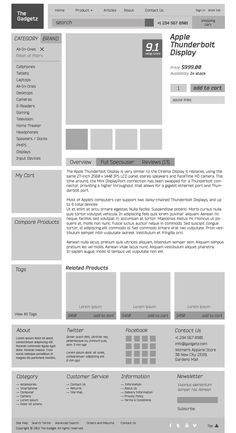 The Gadgetz, magento shop on Web Design Served