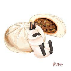 肉まん / булочка с мясом Автор: らいらっく