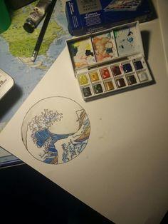 La grande vague de Kanagawa  Hukusai