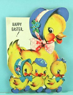 vintage easter cards: 9 thousand results found on Yandex. Easter Greeting Cards, Vintage Greeting Cards, Vintage Postcards, Easter Art, Easter Crafts, Easter Bunny, Happy Easter, Bunny Crafts, Easter Decor