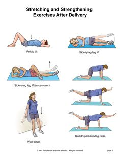 Back Strengthening Exercises . Medical Group - Stretching and Strengthening Exercises After Delivery Post Baby Workout, Post Pregnancy Workout, Pregnancy Stretching, Pregnancy Fitness, Exercise After Delivery, Back Strengthening Exercises, Stretching Exercises, Stretches, Post Baby Body