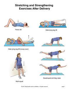 gentle post baby exercises
