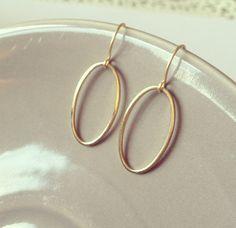 16k Gold Oval Earrings