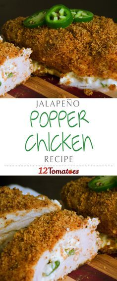 Jalapeño Popper Chicken   Using chicken breasts as the anchor of this recipe, we take all the original components of the popper (jalapeño and cream cheese are the stars of the show) and put everything together in a way that's deliciously crispy and decadently cheesy…you'll be hooked after the first bite!