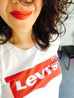 Levi's and red lipstick