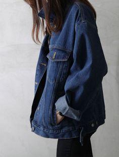 oversized jean jacket #style #fashion