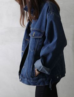 oversized jean jacket #style #fashion