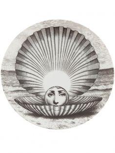 フォルナ・セッティ 円高還元▼FORNA SETTI▼Printed Plate woman's face as a pearl within a shell   インテリア - キッチン・クッキング - 皿 海外通販ならLASO(ラソ)