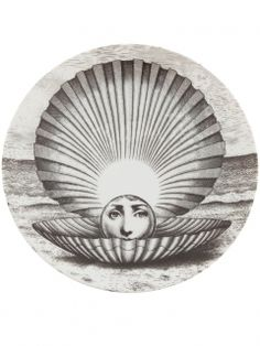 フォルナ・セッティ 円高還元▼FORNA SETTI▼Printed Plate woman's face as a pearl within a shell | インテリア - キッチン・クッキング - 皿|海外通販ならLASO(ラソ)
