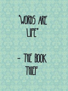 The book thief quote.